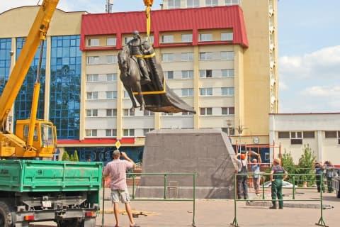 В Лиде устанавливают памятник великому князю Гедимину