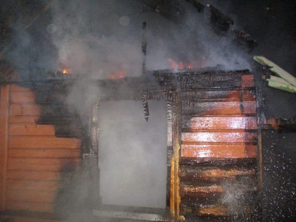 В Лиде горела баня