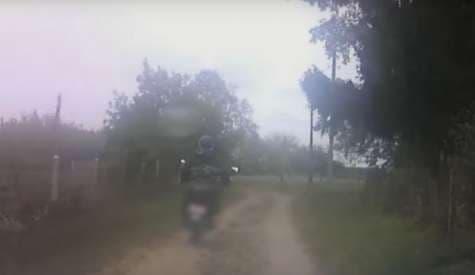 В Лидском районе сотрудники ГАИ преследовали пьяного мотоциклиста (видео)