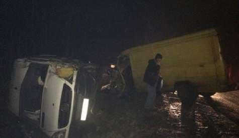 В Лидском районе бус протаранил два встречных авто