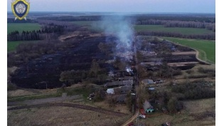 В Щучинском районе из-за пала сухой травы сгорела почти вся деревня (видео)