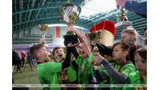 Юные футболисты из Лидского района стали победителями турнира «Кожаный мяч»