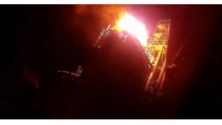 В Лидском районе спасатели ликвидировали пожар в зерносушилке