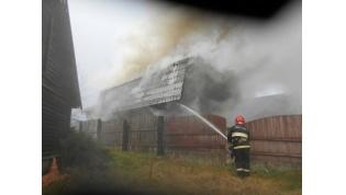 На выходных лидские спасатели тушили баню в Огородниках