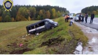 Маршрутка с 14 пассажирами перевернулась в Ошмянском районе
