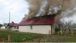 На проспекте Победы в Лиде горел дом